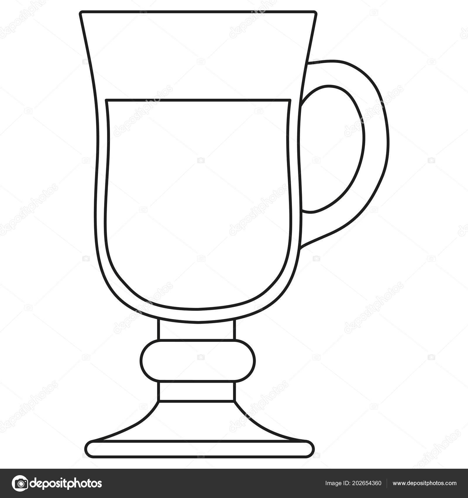 черно белые линии искусства глинтвейн вина стекла