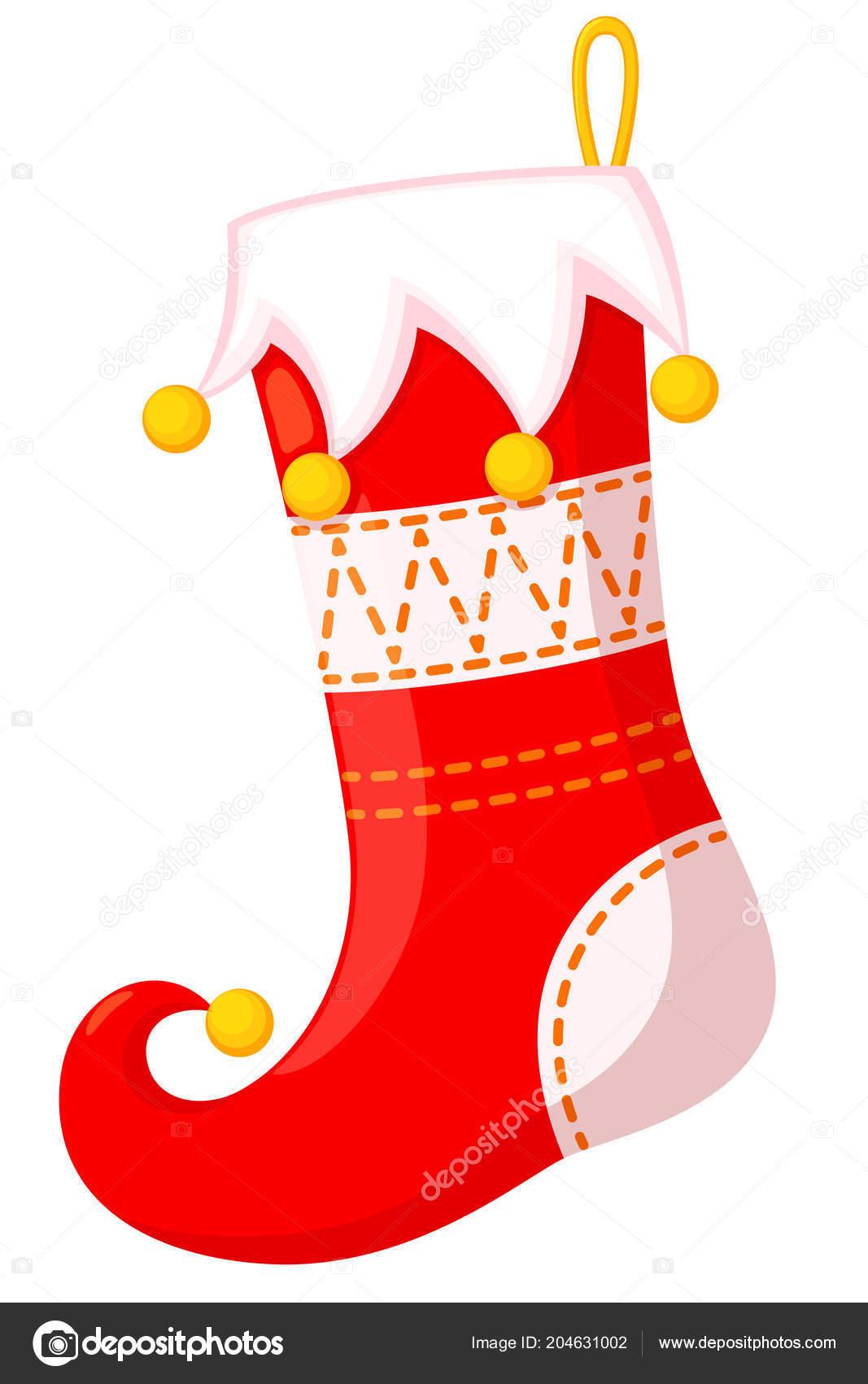 Meia Natal Colorido Dos Desenhos Animados Ilustração Vetor