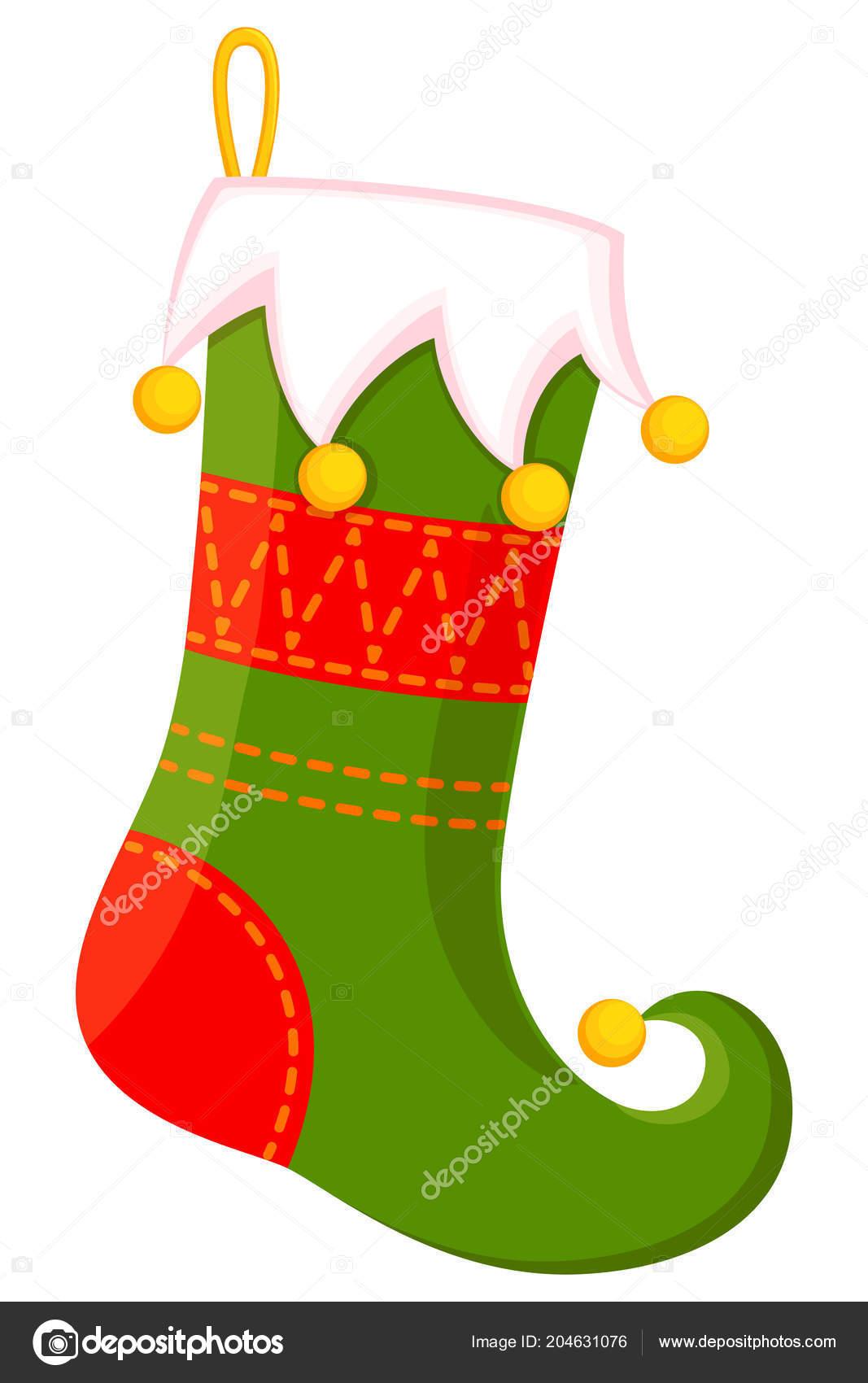Meia Natal Bonito Dos Desenhos Animados Coloridos Ilustração
