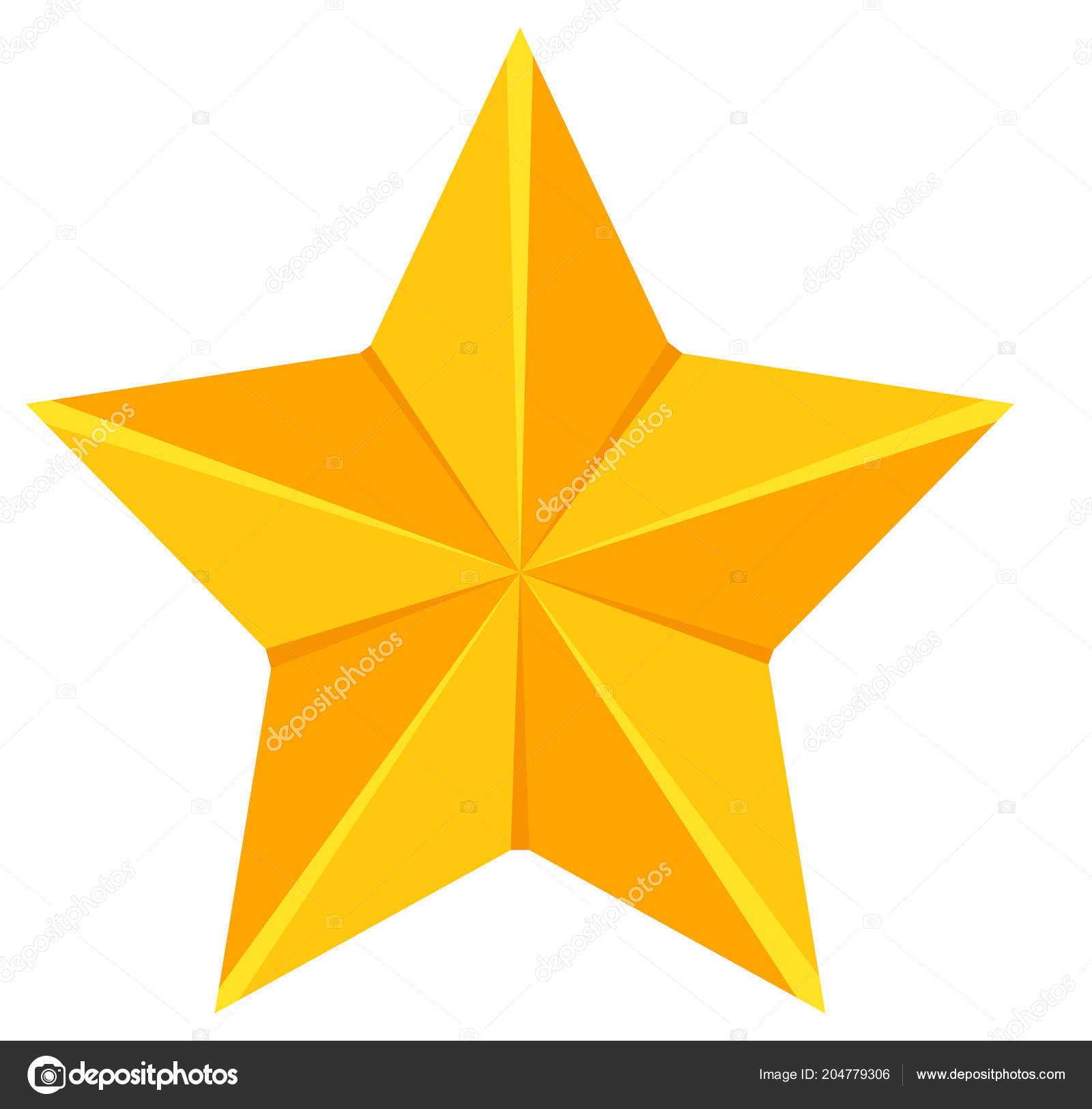 Estrela Desenho Animado Colorido Dourado Decoração Árvore