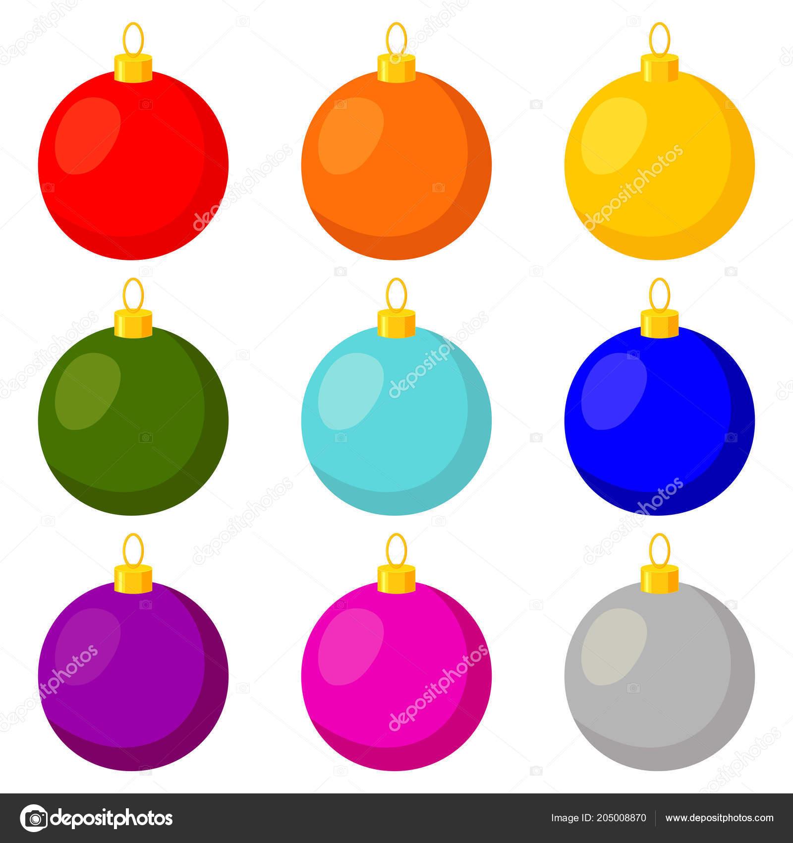 Bola De Natal Desenhos Animados Coloridos Multicolor