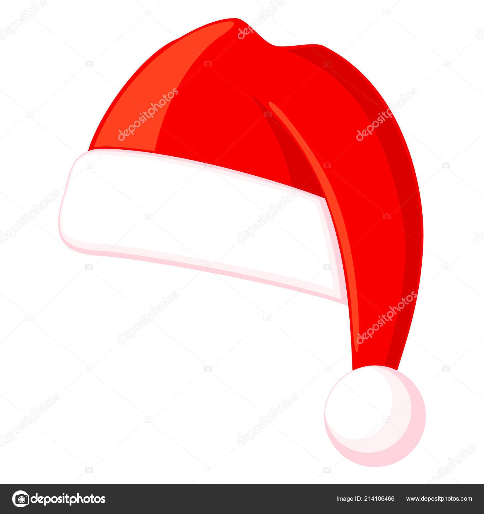 Chapéu De Natal Colorido Dos Desenhos Animados Vetores De