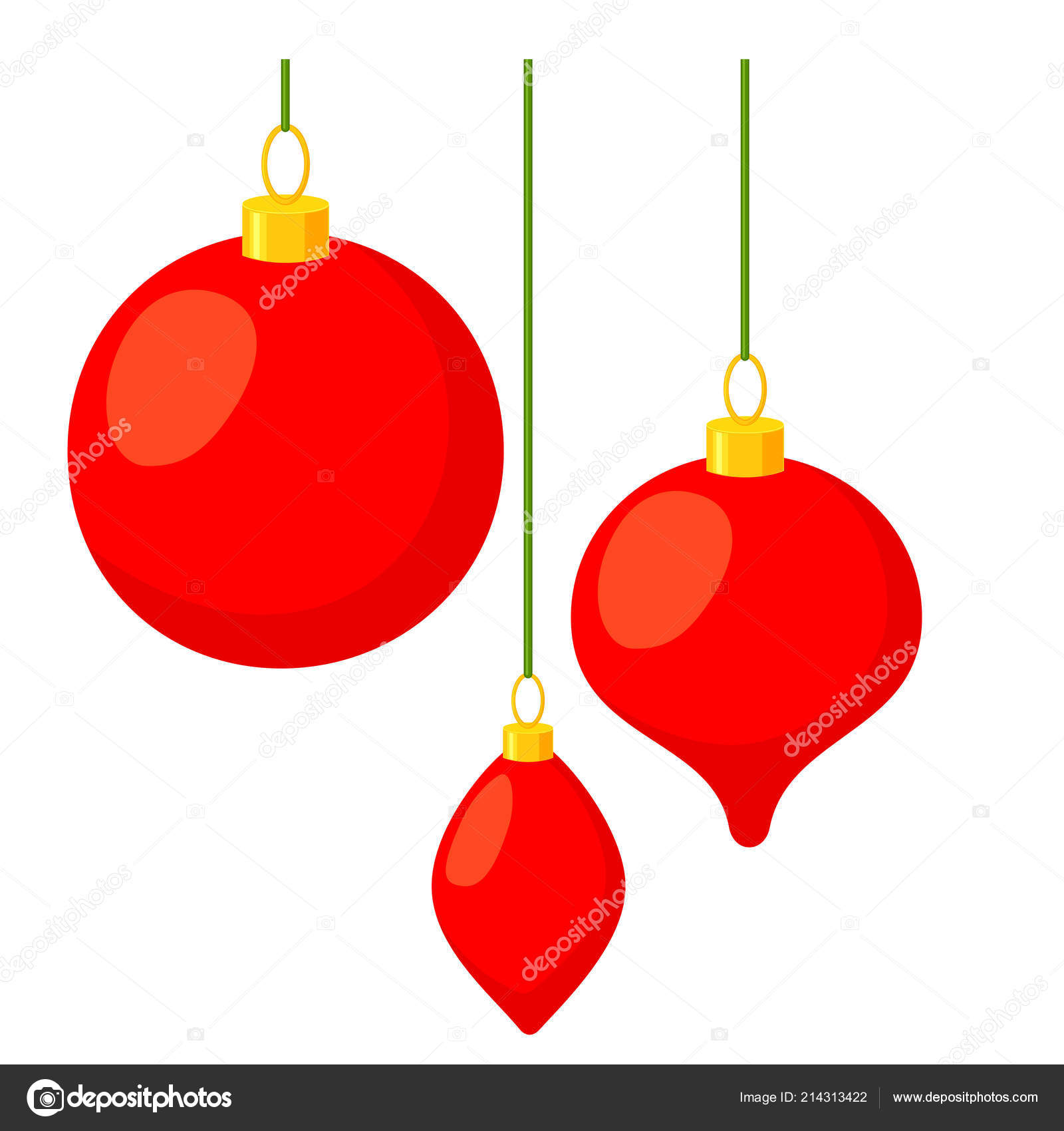 Pictures Cartoon Christmas Tree Decorations Colorful Cartoon