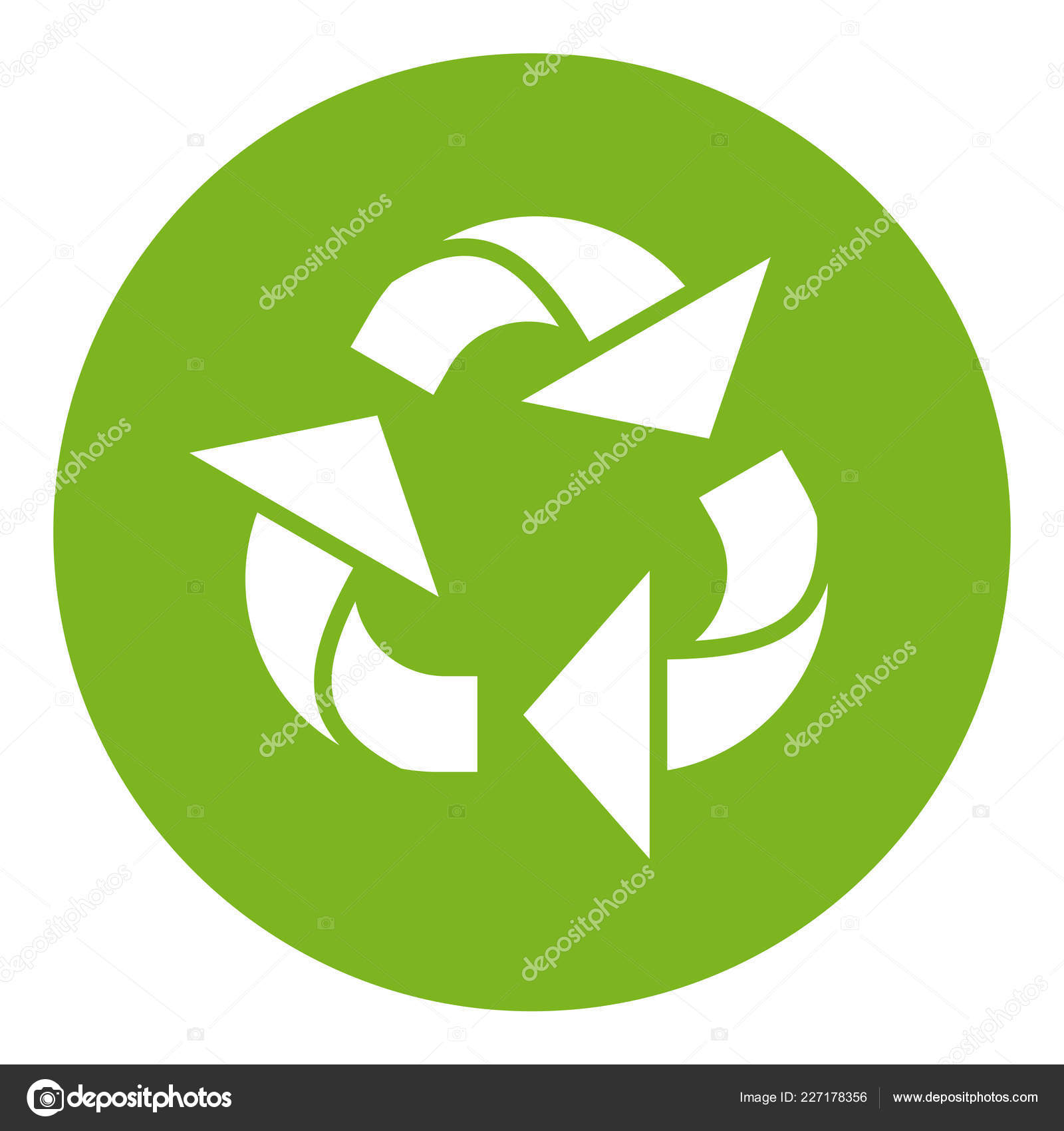 image relating to Recycling Sign Printable called Printable recycling symbol Cartoon recycle indicator Inventory