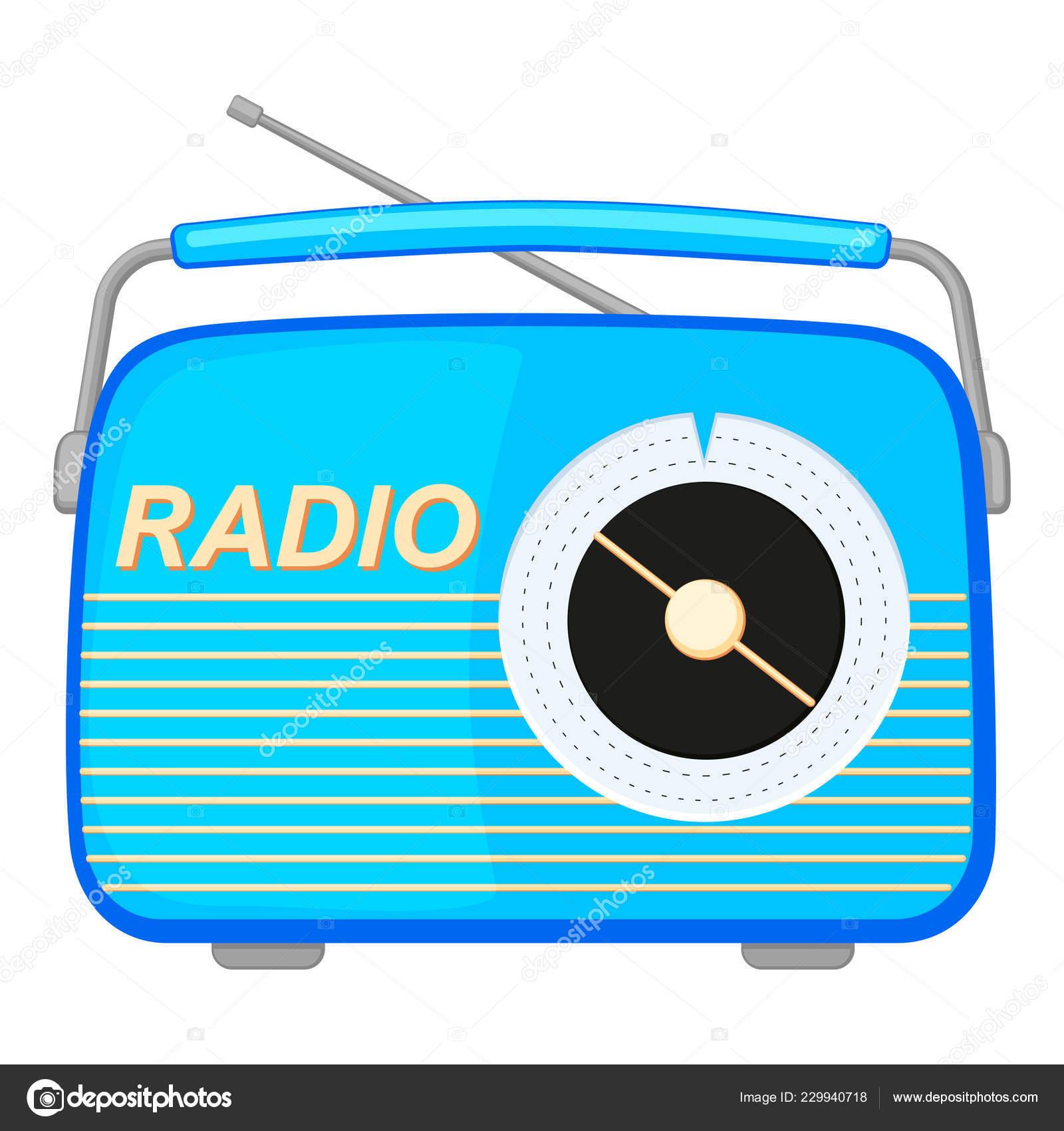 Radio Cartoon Retro Colorful Cartoon Retro Radio Stock Vector C Bessyana 229940718