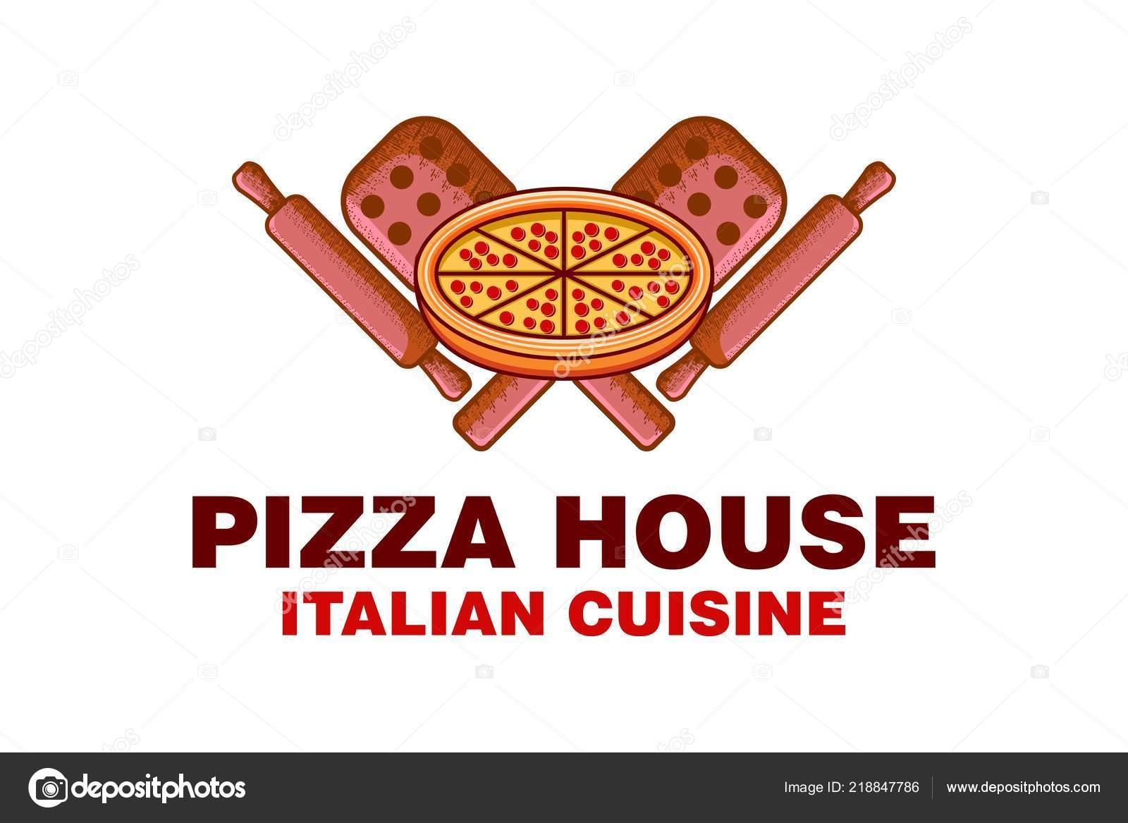 Marchio Della Pizza Dell Annata Casa Cibo Italiano Disegni