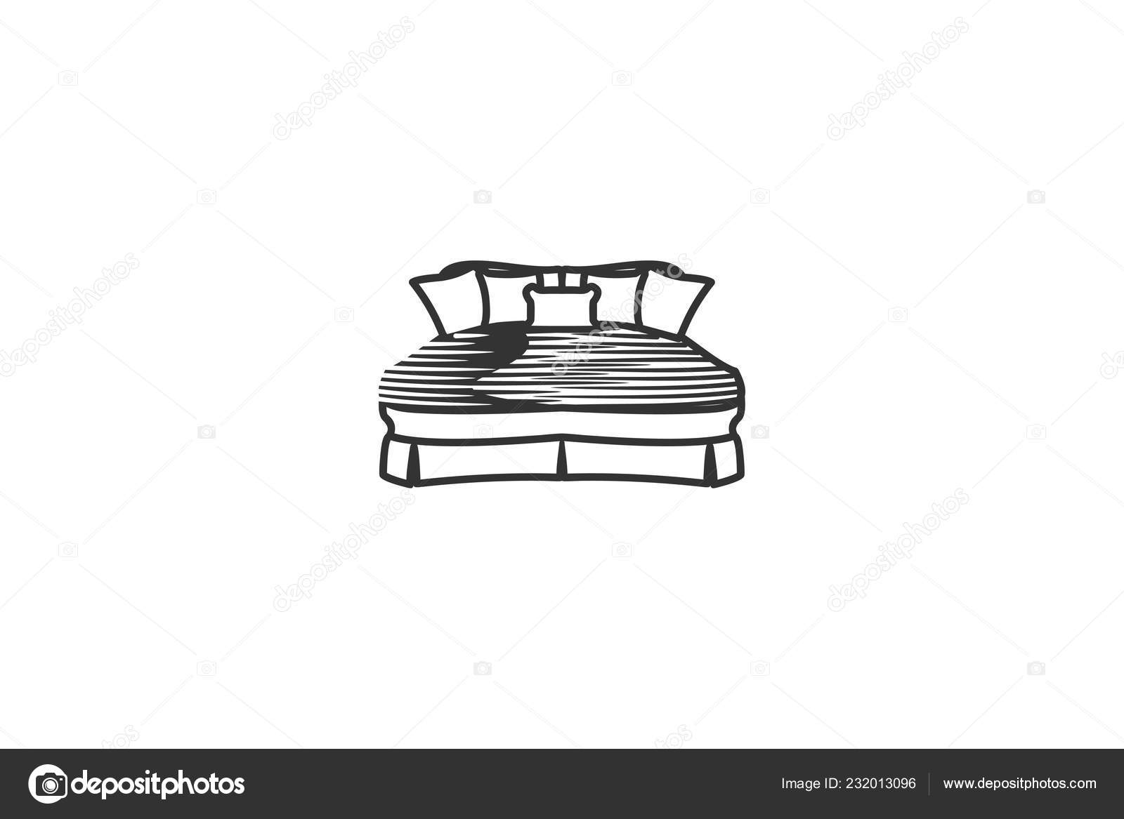 Mattress Mono Line Logo Designs Inspiration Isolated White Background Stock Vector C Wangsinawang 232013096