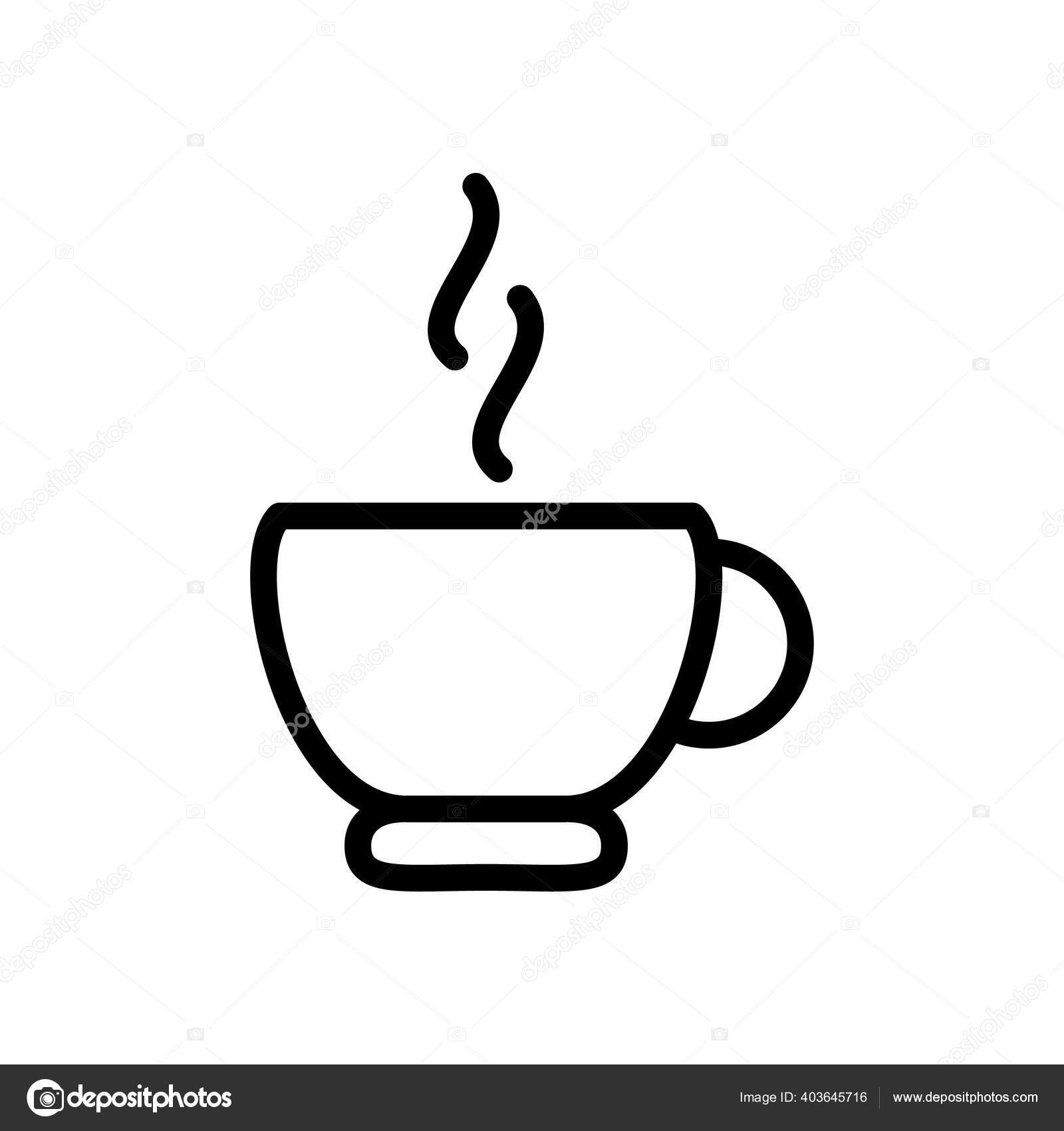 Coffee Cup Symbol Line Icon Vector Illustration Vector Image By C Wangsinawang Vector Stock 403645716