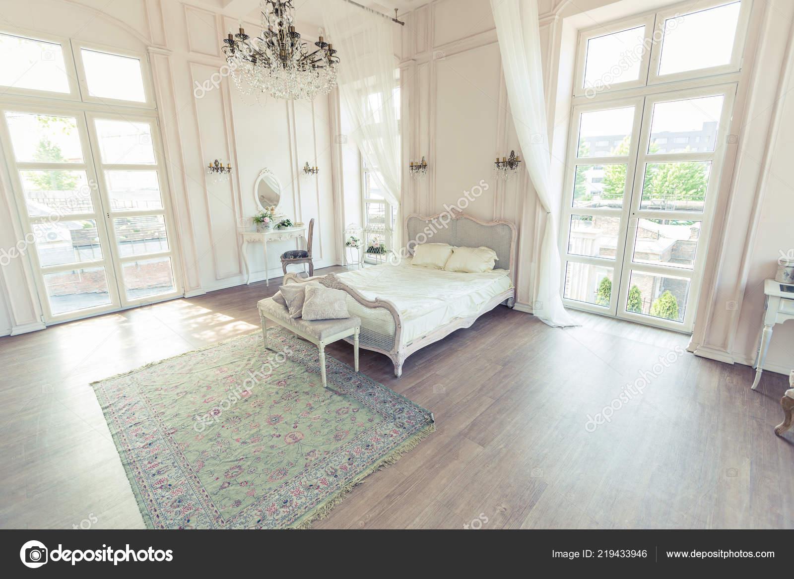 Stilvolle Luxus Schlafzimmer Innenarchitektur Mit Leichten Vintage