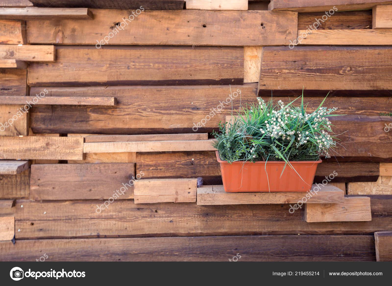 Haus Mit Unterhaltsamen Aussenbereich Mobel Aus Holz Und Pflanzen