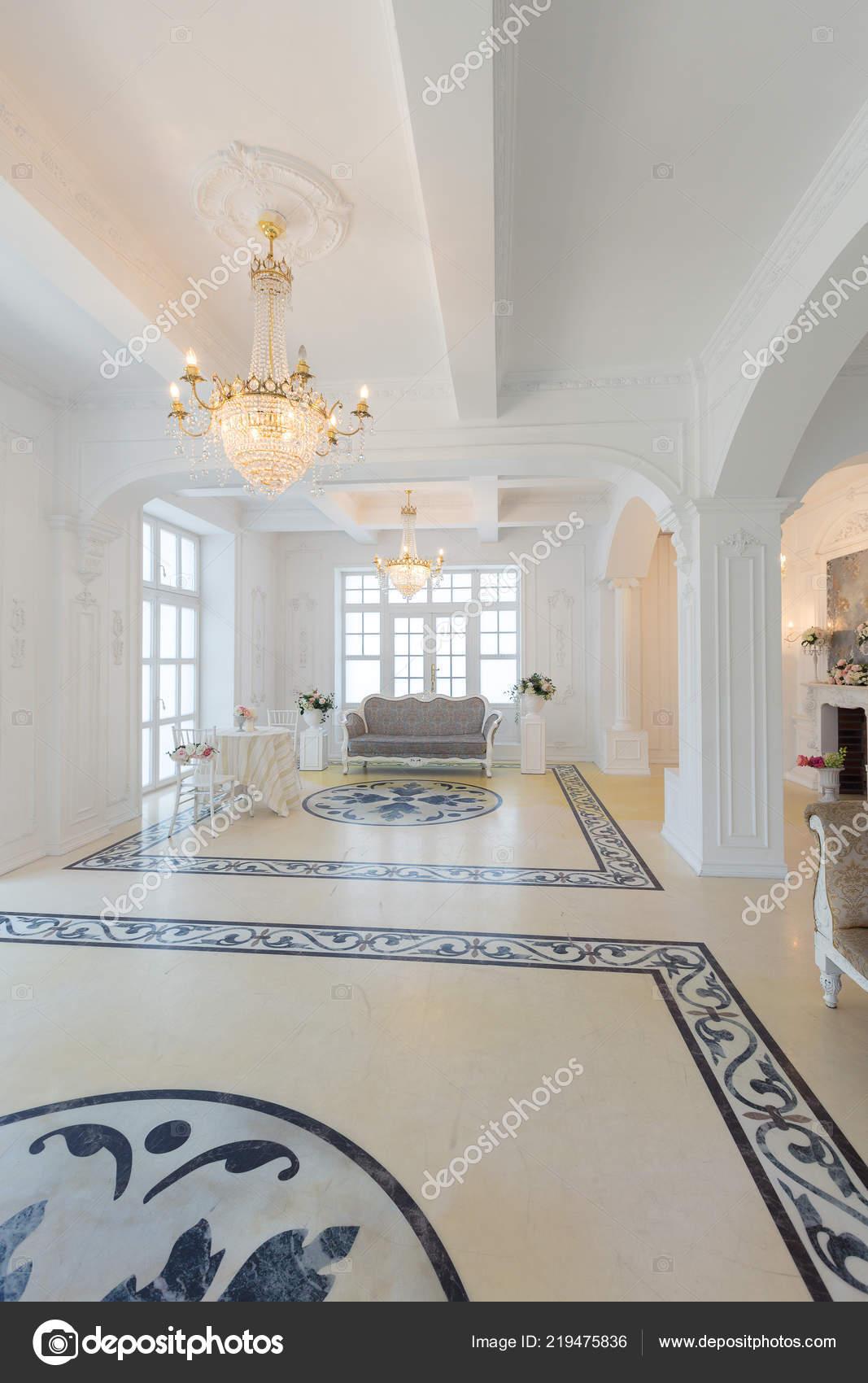 Stylish Luxury Hall Interior Design Vintage Light Furniture U2014 Stock Photo