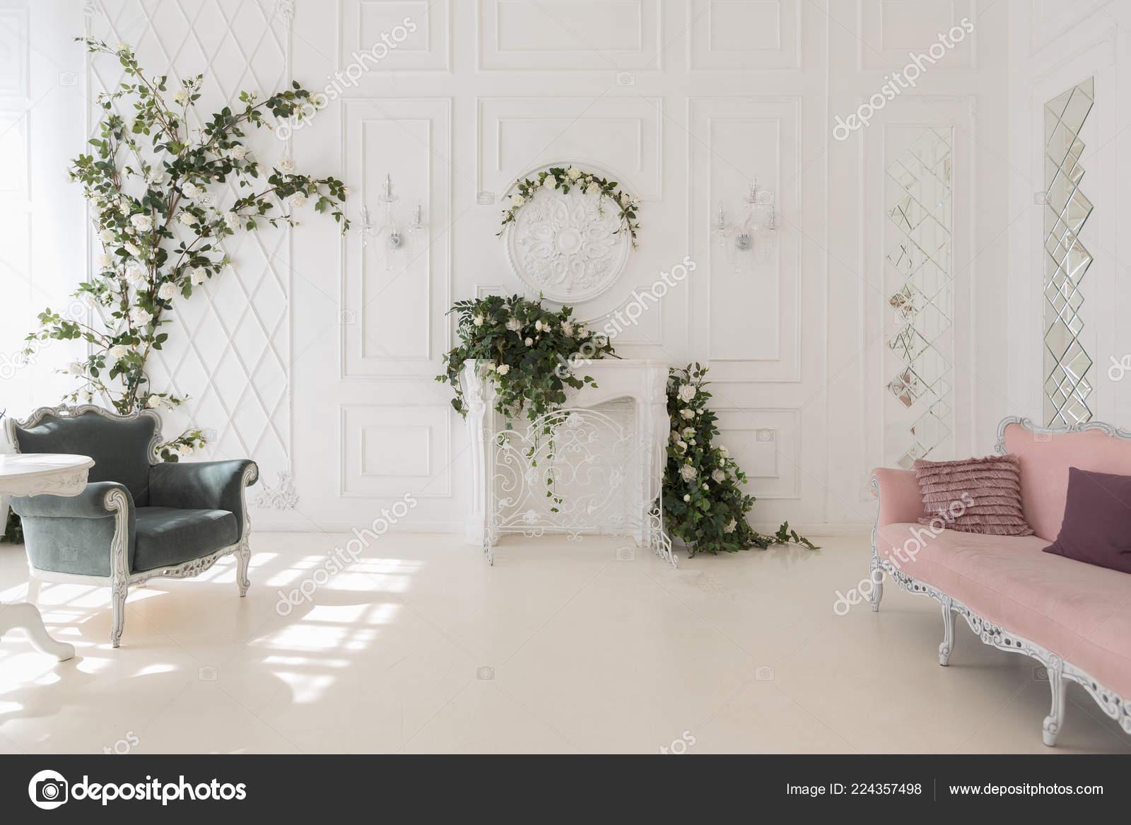 Luxury Rich Interior Design Elegant Vintage Furniture Floral Decorations Stock Photo C Nokia Alexnet 224357498