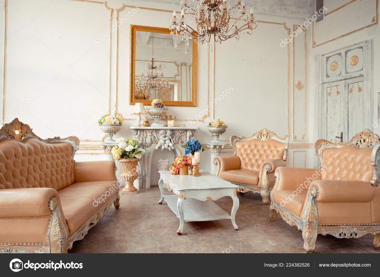 Luxury Rich Interior Design Elegant Vintage Furniture Pastel Colors ...