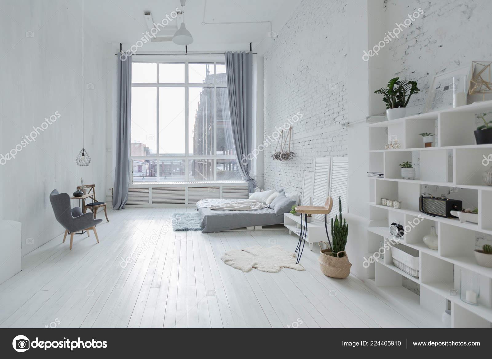 Modern Interior Design Studio Apartment, Studio Living Room Furniture