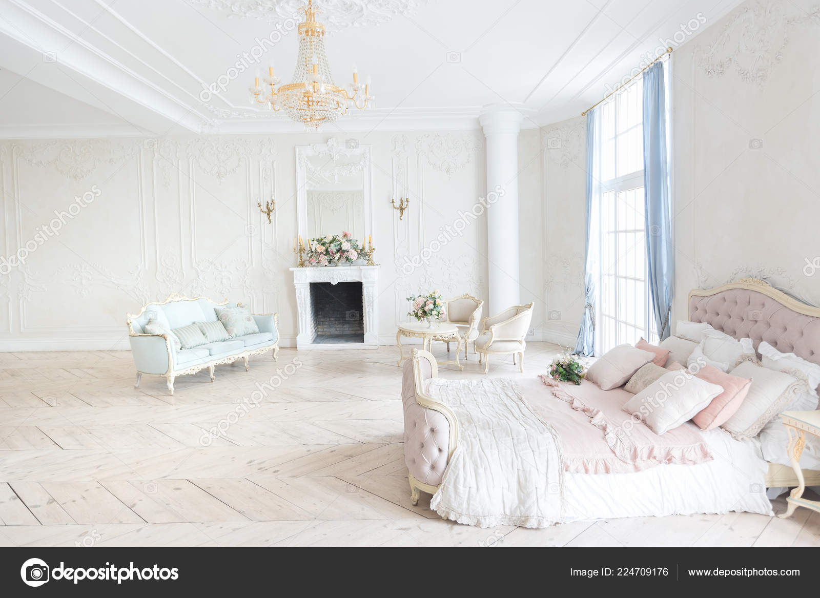 Luxury Rich Bedroom Interior Design Elegant Classic Furniture Stock Photo C Nokia Alexnet 224709176