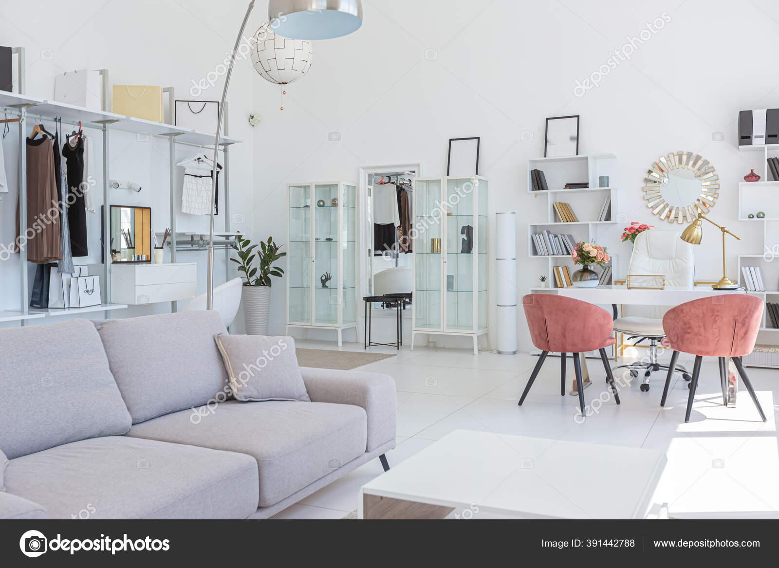 Cozy Luxury Modern Interior Design Studio Apartment Extra White Colors Stock Photo C Nokia Alexnet 391442788