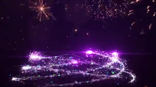 2021 Happy New Year Bright  Animation Numerals of the New Year Glowing.