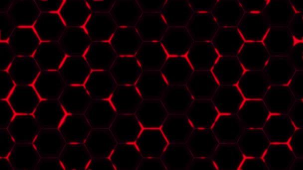 Futuristisches Oberflächenkonzept mit Sechsecken. Trendiger Science-Fiction-Hintergrund mit sechseckigem Muster. Nahtlose Schleife.