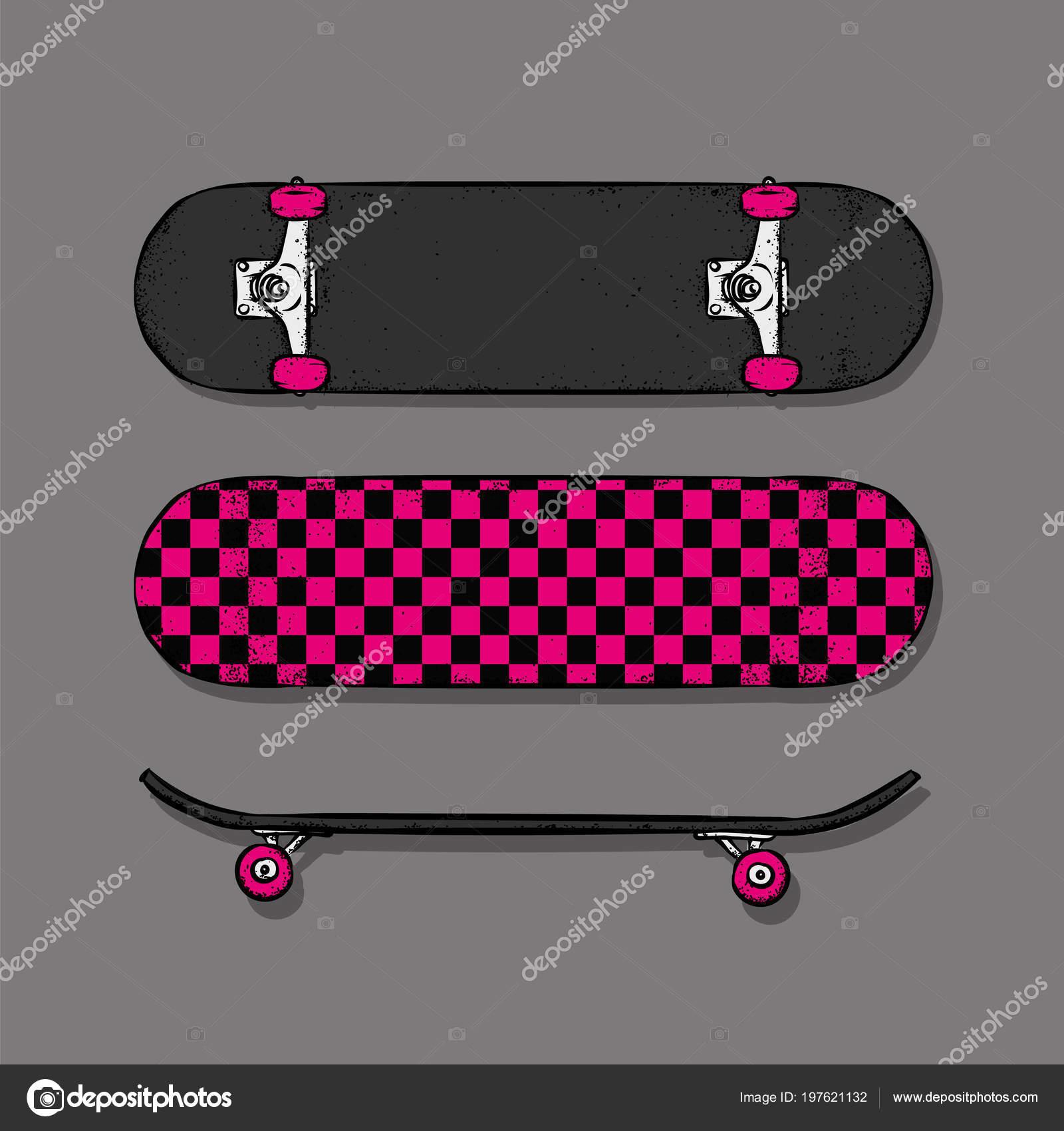 18af40098 Conjunto Ilustração Vetorial Skates Para Polvo Pôster Impressão Roupas Skate  — Vetor de Stock