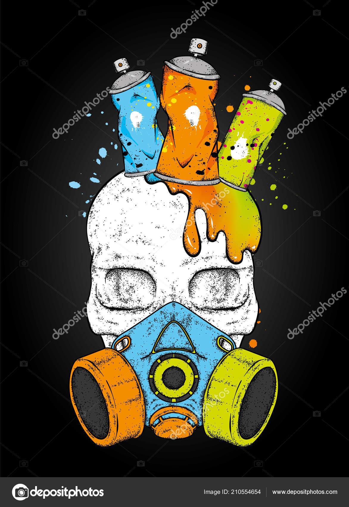 Vector: graffiti crown   Skull Ballons Paint Graffiti Skull