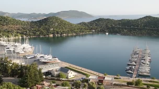 Scenic view of boats at sea. Turkey.