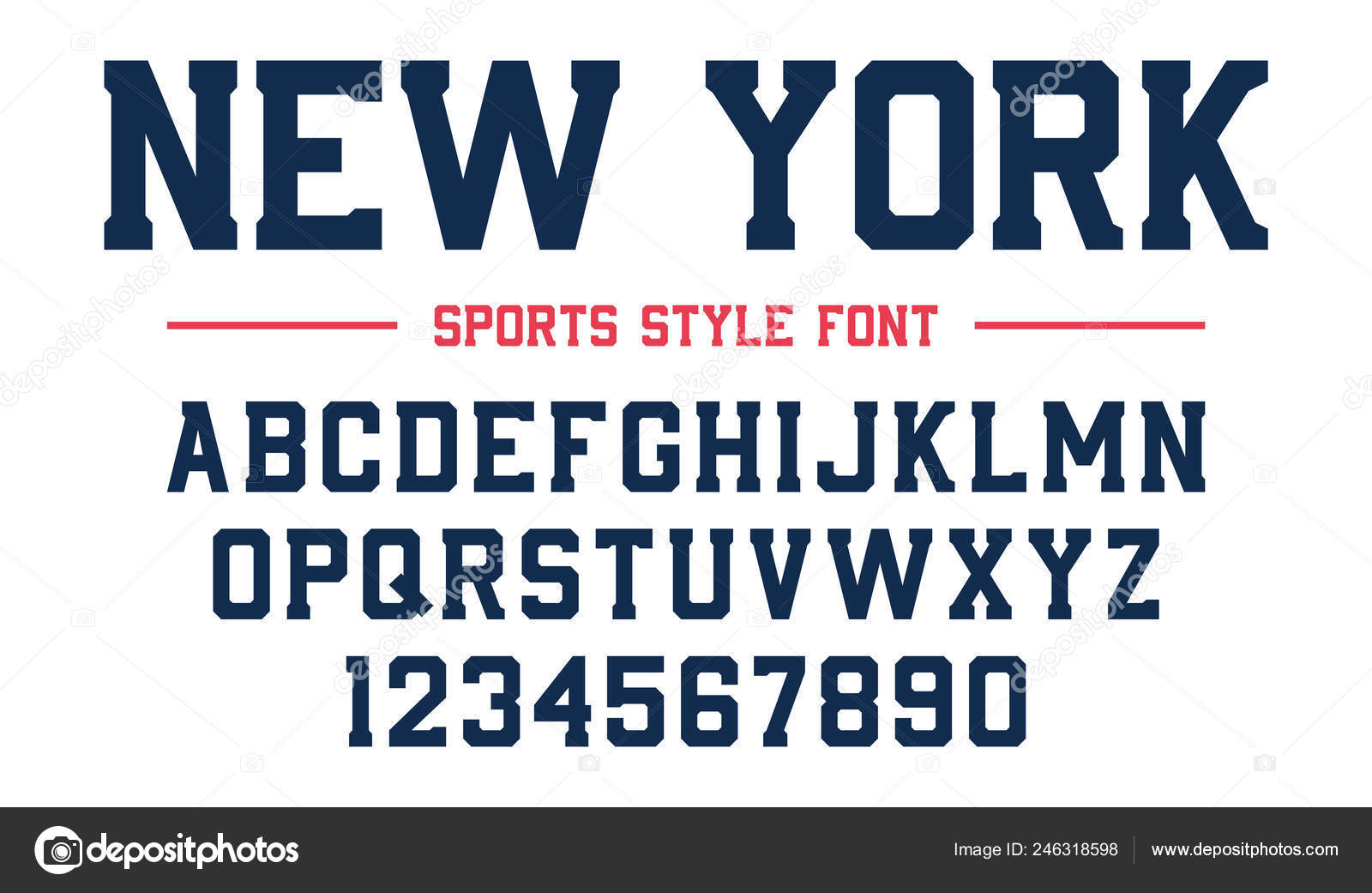 Classic College Font Vintage Sport Serif Font American Style