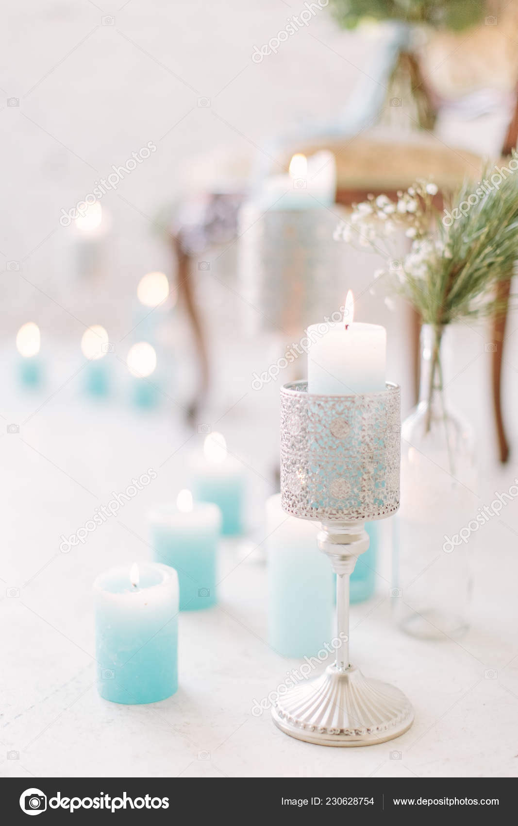 Teal Black And Silver Wedding Decorations  from st4.depositphotos.com