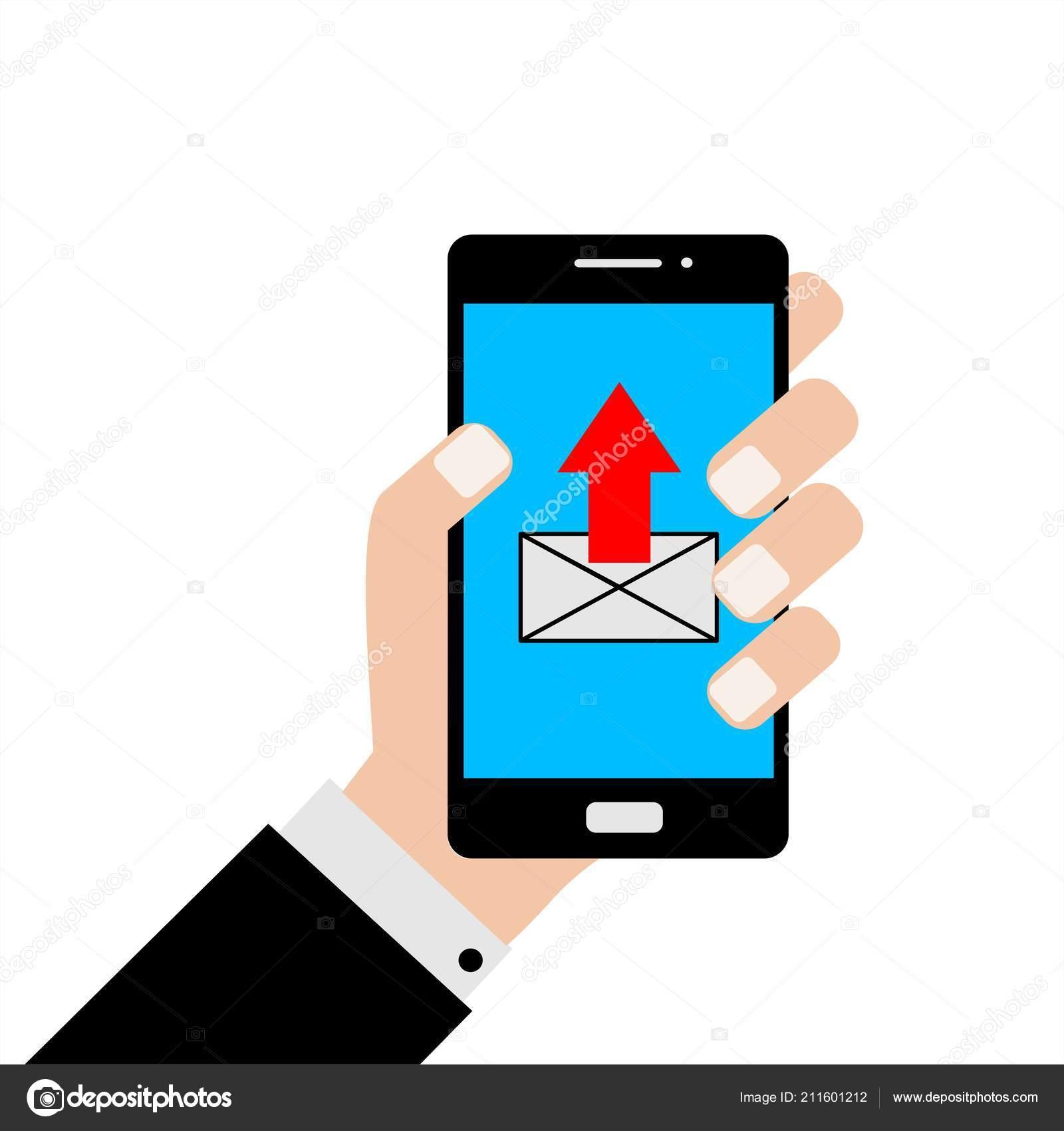 fd2741cc7dc Επιχειρηματίας Που Κατέχουν Ένα Smartphone Μια Αποστολή Μηνύματος ...