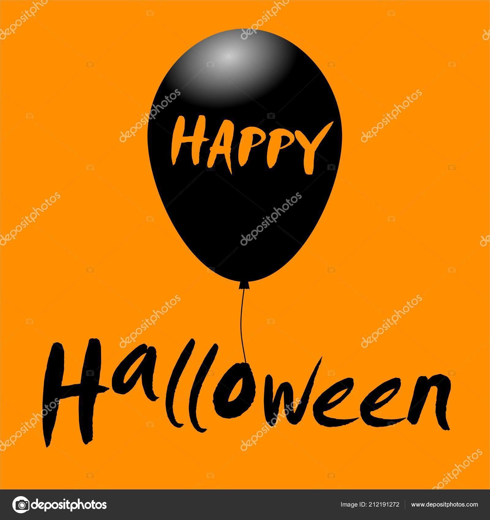 happy halloween message design background balloon stock vector