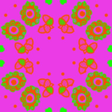 colored abstract simple acorns pattern