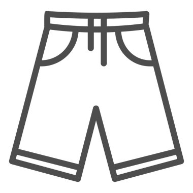 Shorts line icon, Summer concept, Men bermuda shorts sign on white background, Swimming trunks icon in outline style for mobile concept and web design. Vector graphics.