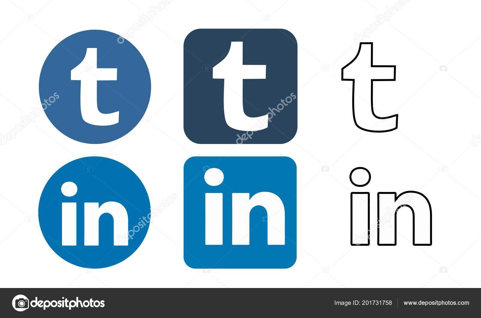 Icon Collage Tumblr Tumblr Linkedin Icon Vector Vector De Stock