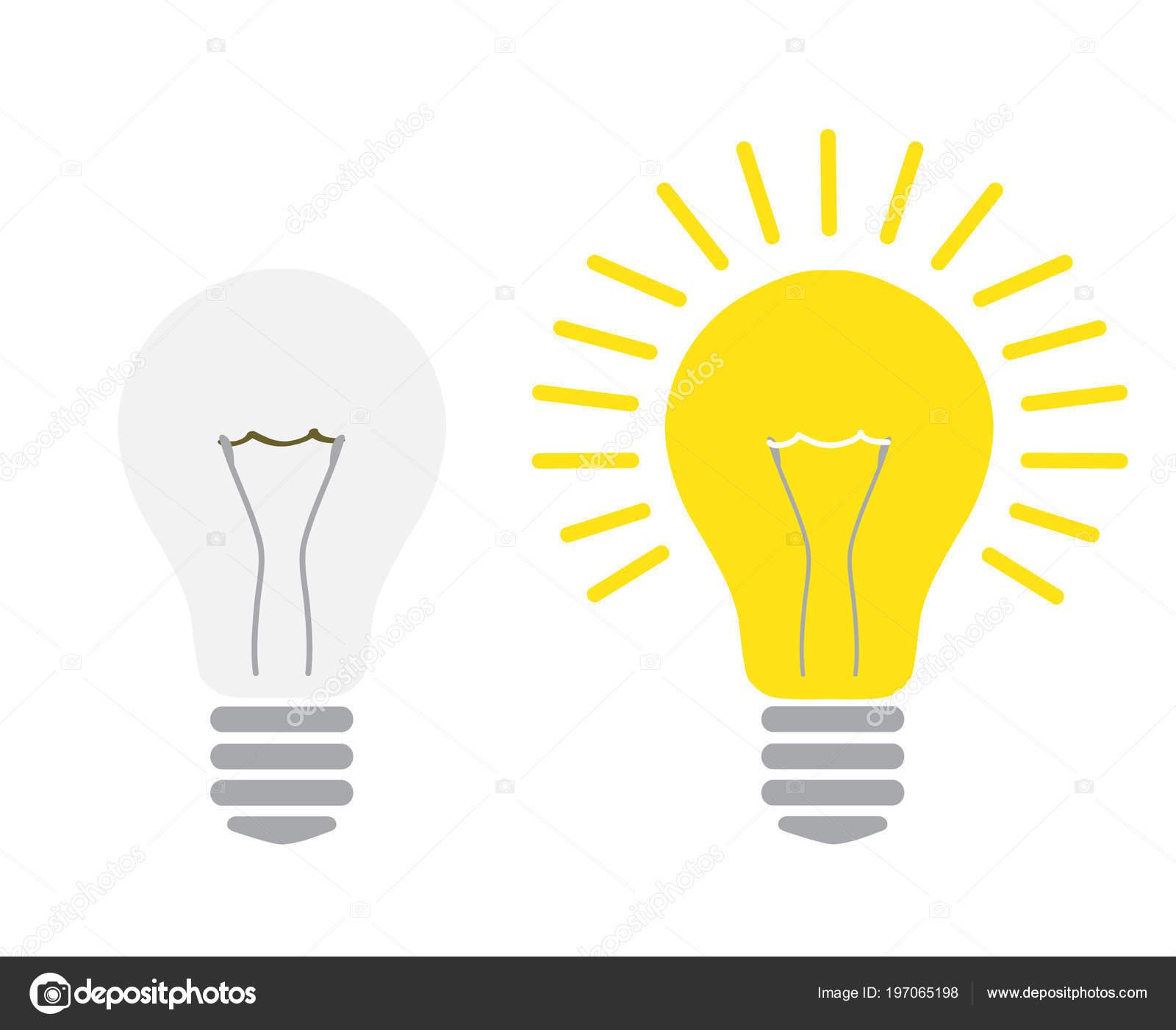 teint lumi re lumi re sur ampoule allum teint lumi re lectrique ampoule image vectorielle. Black Bedroom Furniture Sets. Home Design Ideas