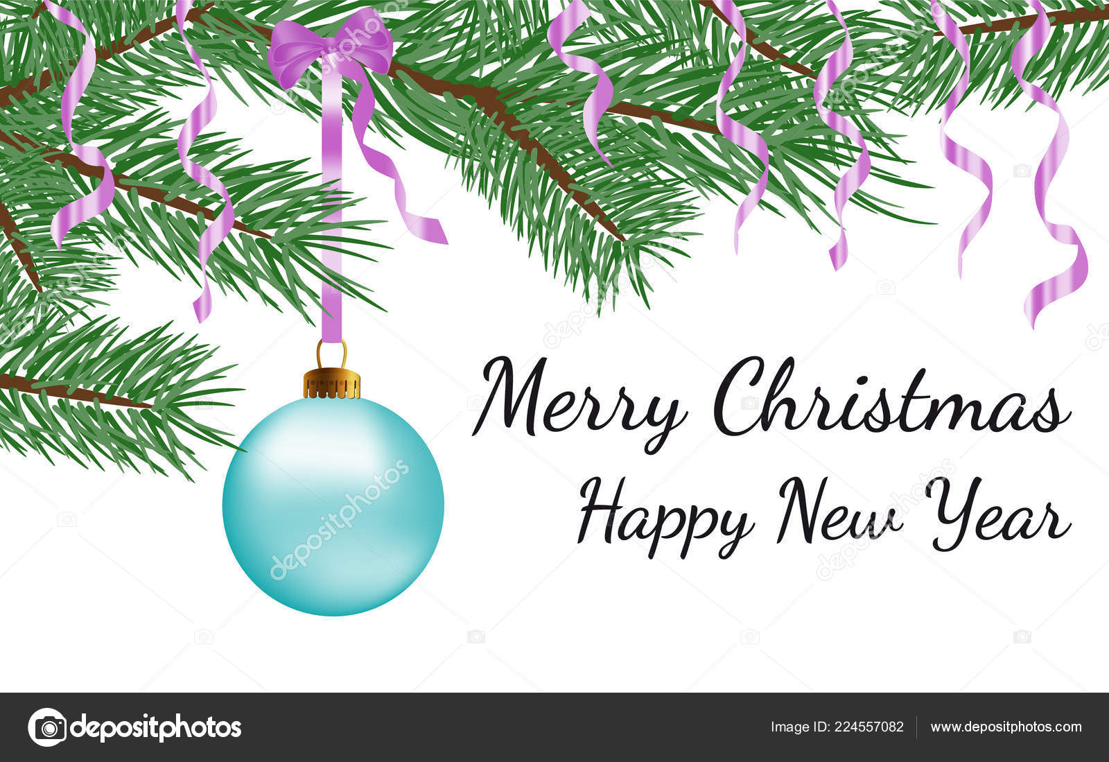 merry christmas happy new year text greeting card design vector stock vector c henkeova 224557082 https depositphotos com 224557082 stock illustration merry christmas happy new year html