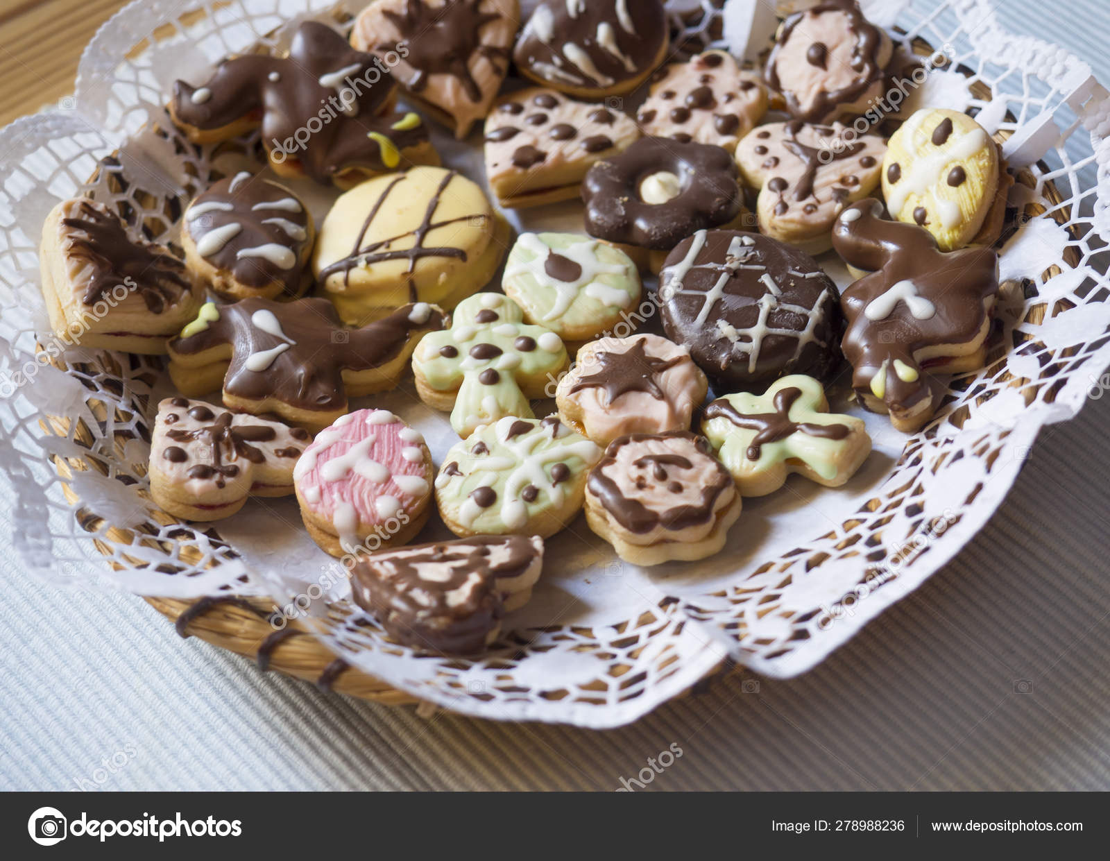 Close Up Detail Of Traditional Czech Christmas Or Easter Sweets