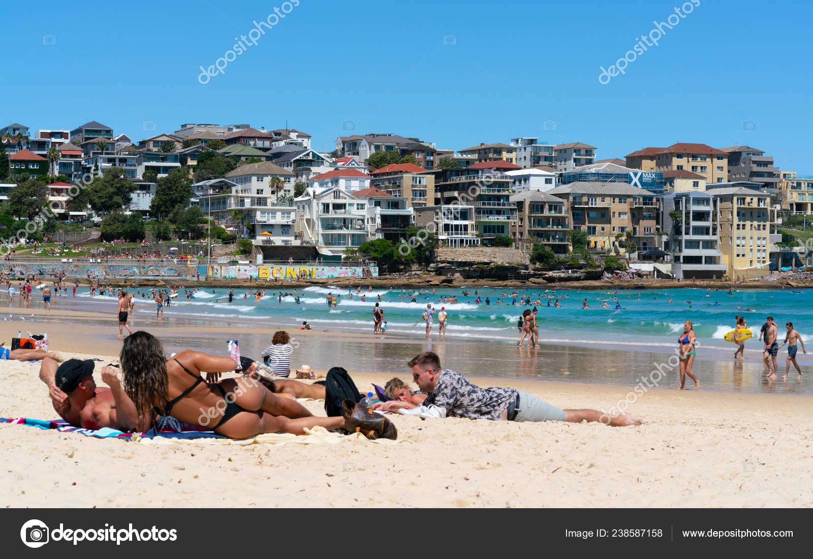 Photos Bondi Beach Bikini 24th December 2018 Bondi Sydney Australia Woman Wearing Thong String Stock Editorial Photo C Keitma 238587158