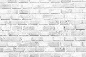 White brick wall texture and background for room wall and wallpaper interior and exterior design.