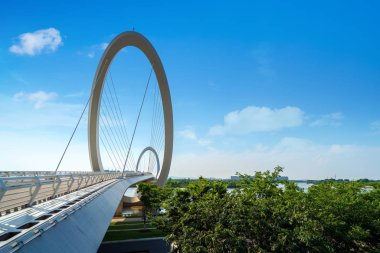 Modern bridge under the blue sky, Nanjing, China.