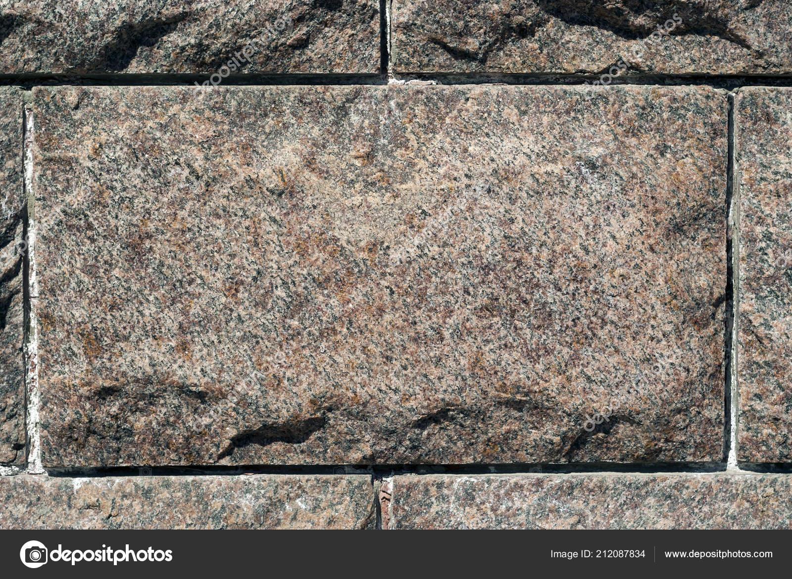 Rough Granite Rectangular Block Composition Masonry Wall