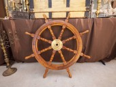 Zblízka obraz výprodeji pirátská loď kormidla volantu