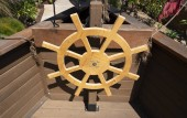 Dřevěná pirátská loď kormidla volant pro děti