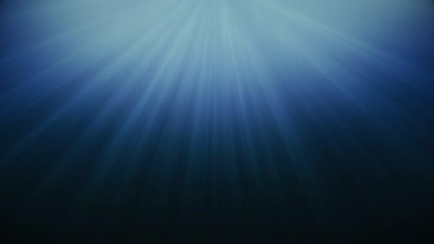 Hluboké moře s bublinami pod vodou abstrakt Nebeský světelný paprsek-smyčka pozadí