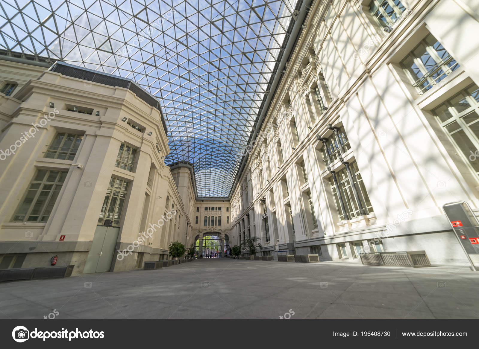 Madrid Espanha Maio 2018 Vidro Galeria Palácio Cibeles