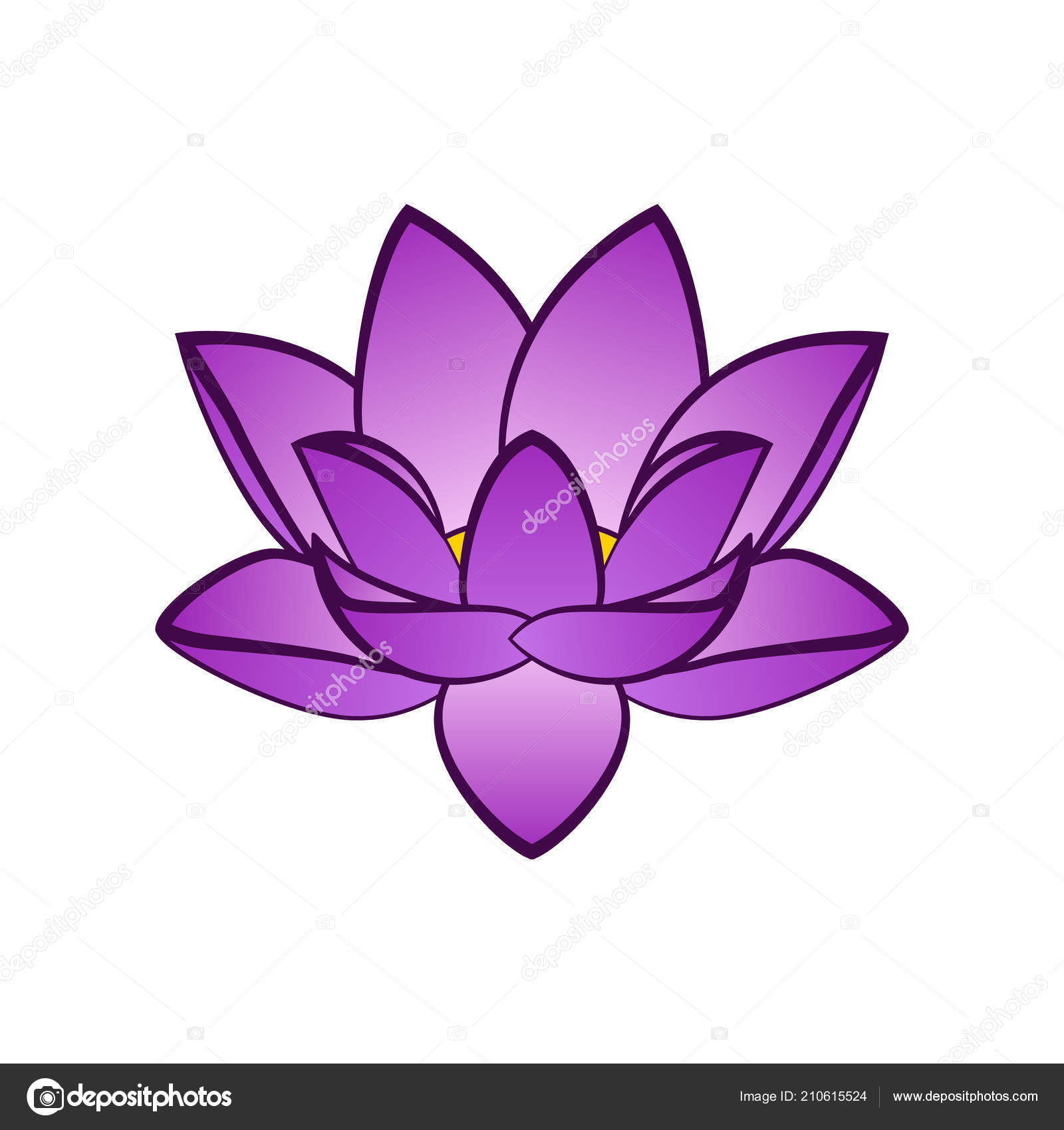 Simple violet lotus flower vector illustration isoleted aquatic simple violet lotus flower vector illustration isoleted aquatic plant white stock vector izmirmasajfo