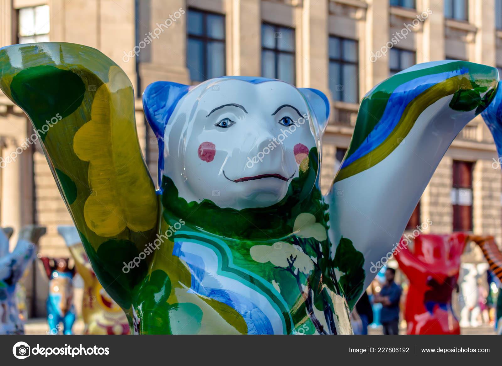 Riga Lettonia Luglio 2018 Finlandia Orso Esposizione Internazionale