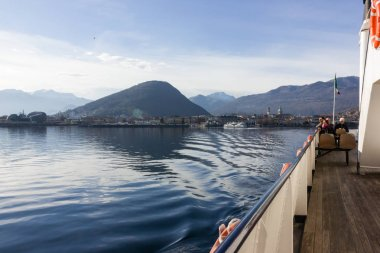 Ferry from Verbania to Laveno in spring for Ticino travel