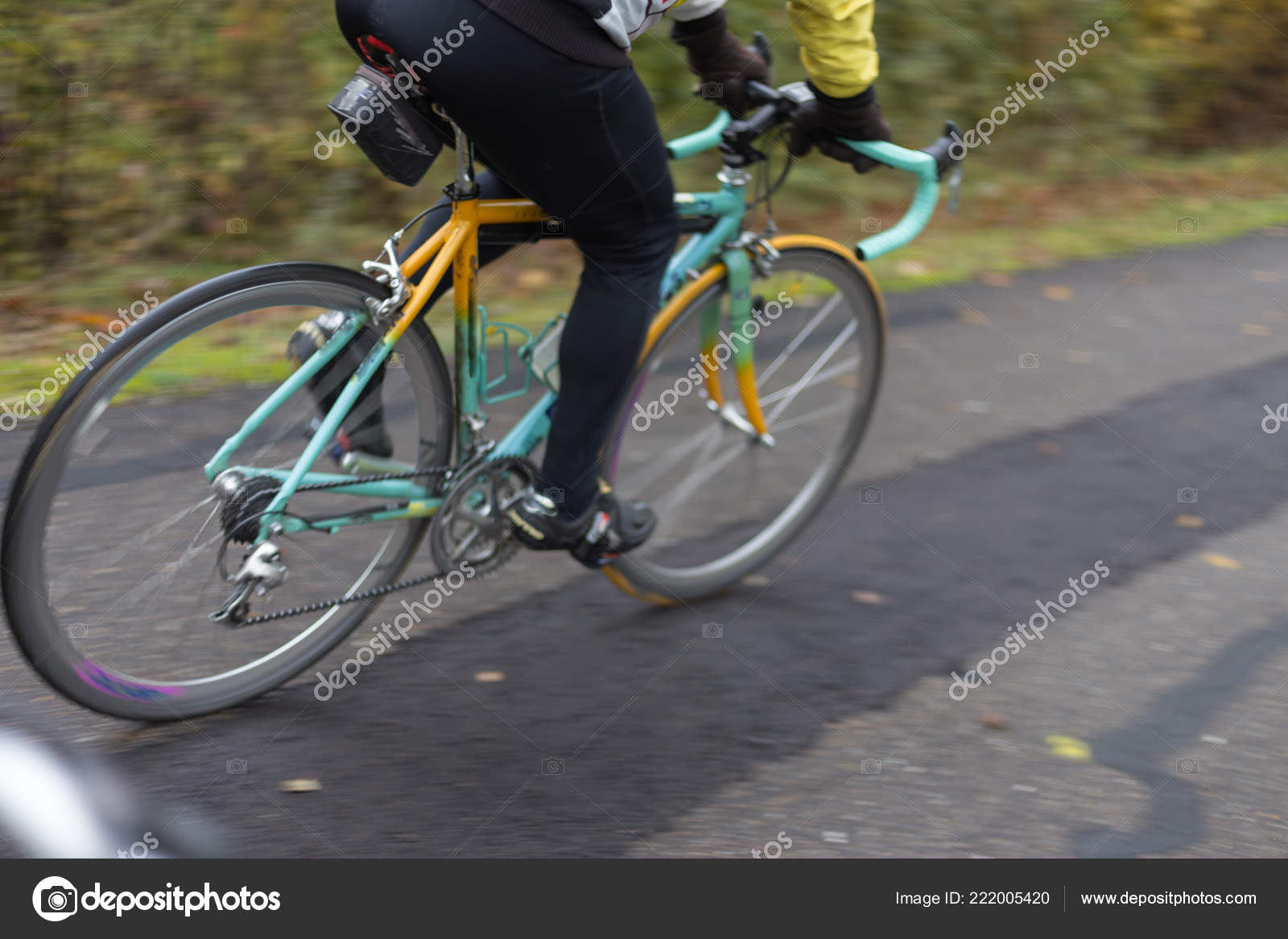 Bicycle Parts Outdoor Exercise Foggy November Day South Germany