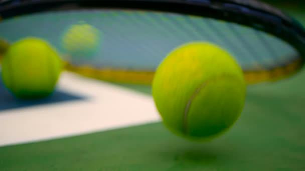 Zblízka tenis na kurtu. Sport, rekreace koncepce.