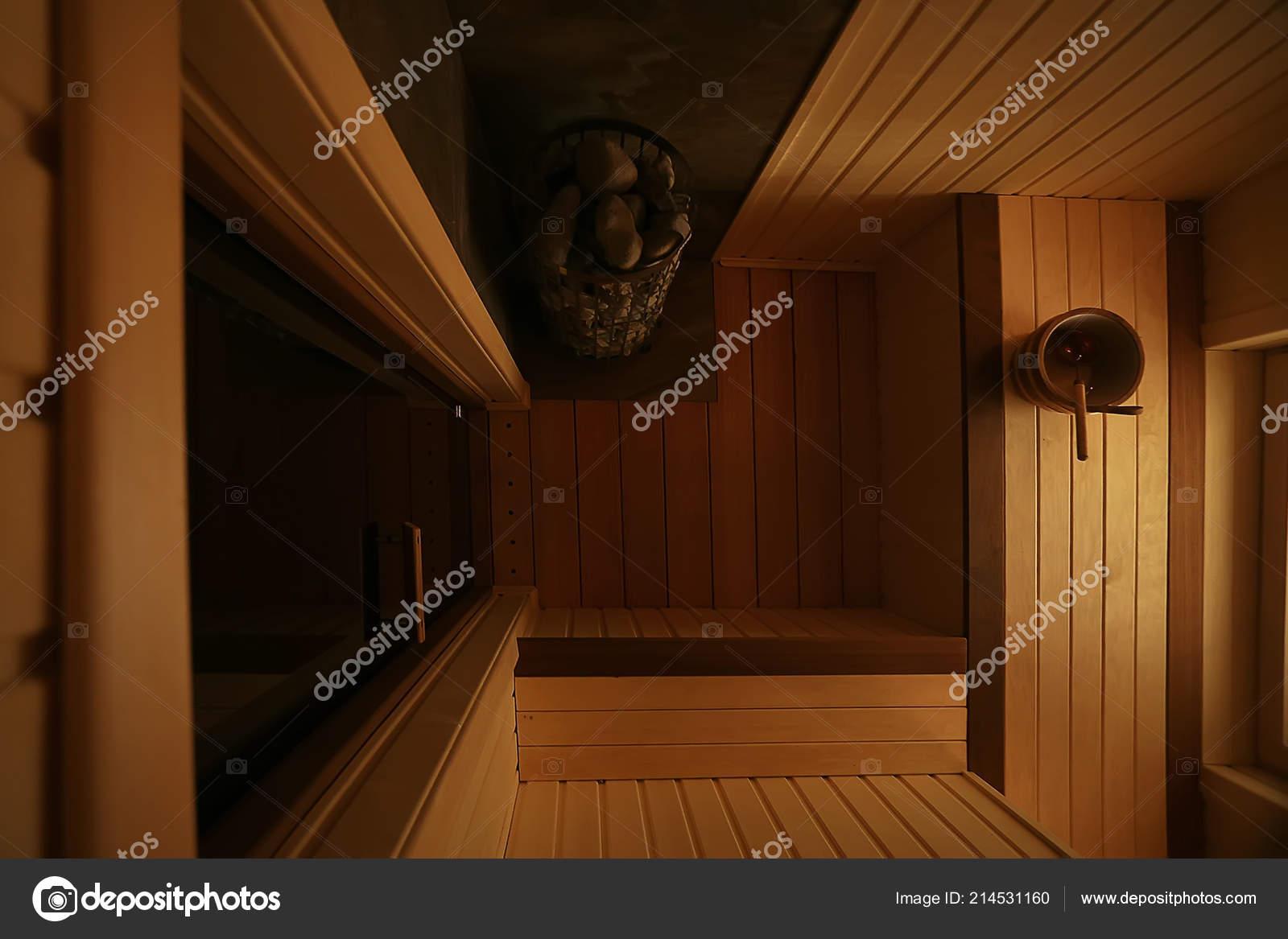 Sauna Wooden Interior Baths Wooden Benches Loungers Accessories