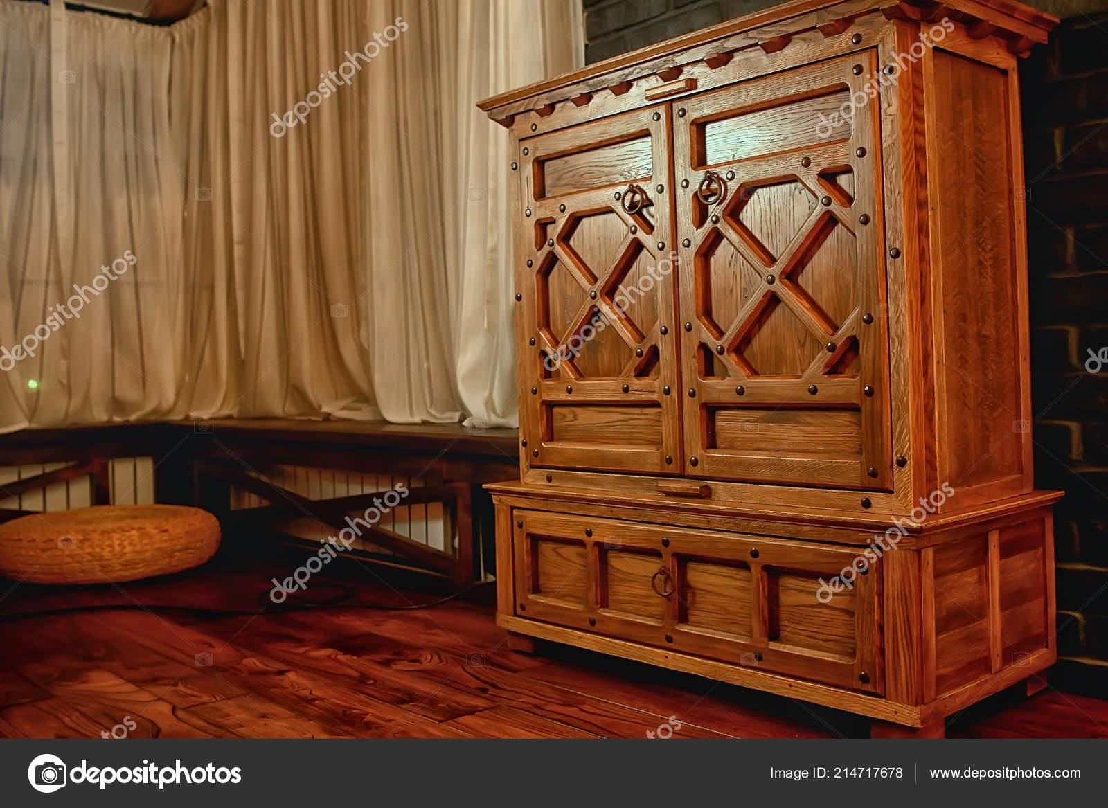 Genial Antike Eiche Kommode Vintage Möbel U2014 Stockfoto